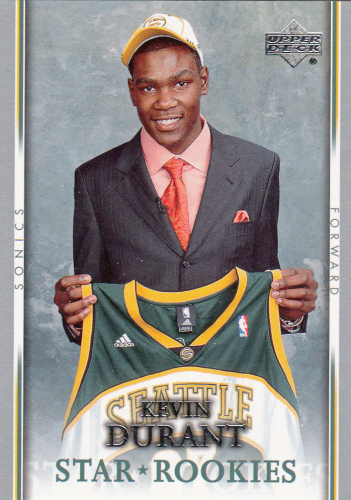 Kevin Durant (rookie) 2007/08 NBA Upper Deck #234