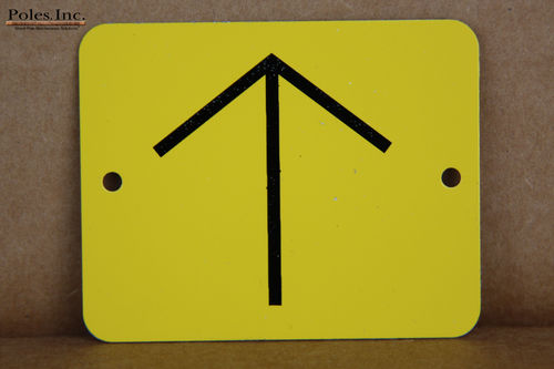 Yellow Tag with Black Arrow Aluminum (Bag of 100)