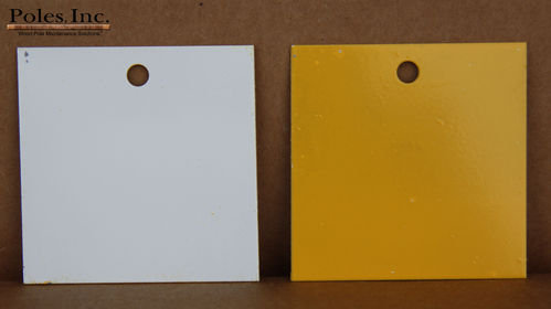 "Pole Tag 2"" x 2"" Aluminum Yellow one side/White other side (Bag of 100)"