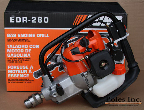 "Drill - ECHO ""EDR 260"" Gas Powered Drill with chuck, Reversible, 25.4 cc"