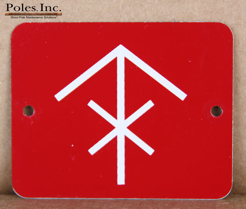 "Danger-Do Not Climb  ""NO CIRCLE"" ALUMINUM Red Tag with White Arrow and X (Bag of 100)"
