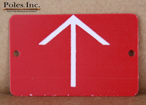 Red Tag with White Arrow PLASTIC (Bag of 100)