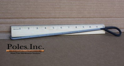 "Shell Thickness Indicator 12"" with Bent Black Handle"