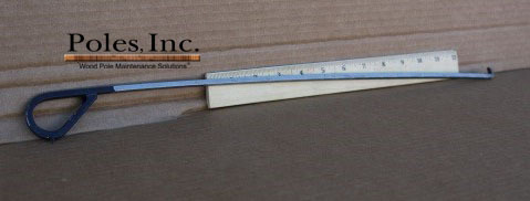 "Shell Thickness Indicator 18"" with Bent Black Handle"