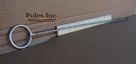 "Shell Thickness Indicator 18"" with Sliver Handle"