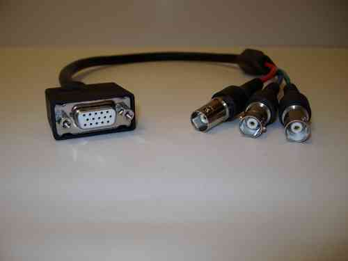 "2201 18"" Female VGA to 3 Female BNC cable"