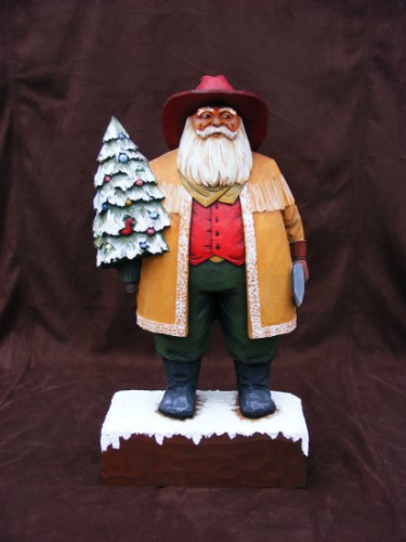 Santa Woodcarving - #156/01