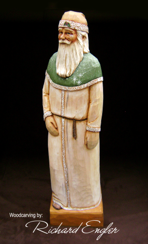 """Santa Woodcarving"" - # 156/79"