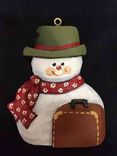 Traveling Snowman Ornament #20/311