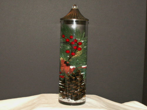 "Cylinder - ""Red Berries with Cardinal"" 87/148"