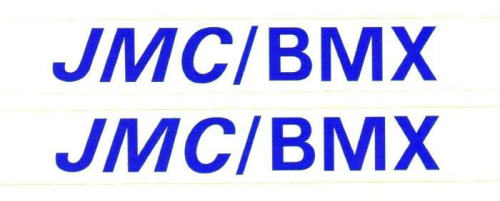 Blue JMC/BMX Decals