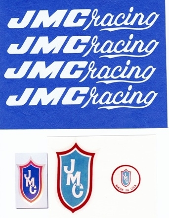 White JMC Racing Decals 80-85