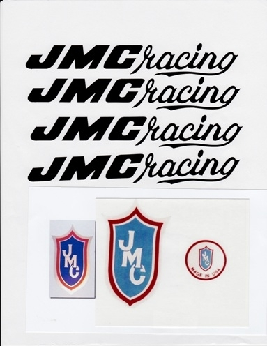 Black JMC Racing decal set 80-85