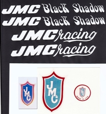 White JMC Black Shadow Decal Set