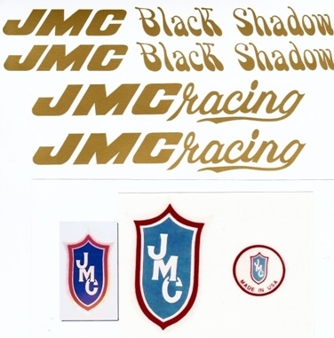 Gold JMC Black Shadow Decal Set