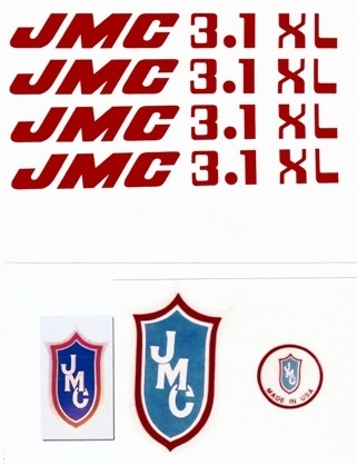 Red JMC 3.1 XL Decal Set