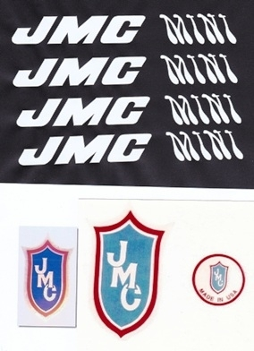 White JMC Mini decals