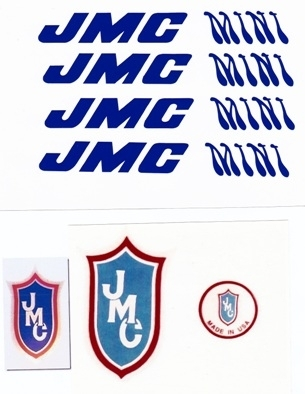Blue JMC Mini decals