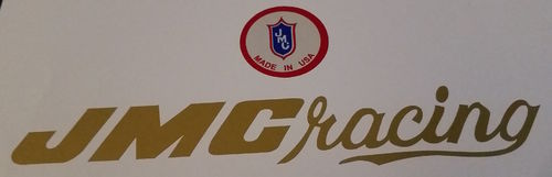 Gold JMC Handlebar decal set
