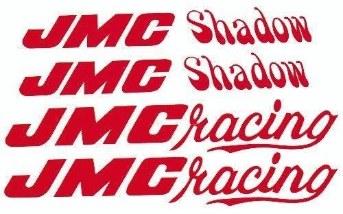 Red JMC Shadow Decal Set