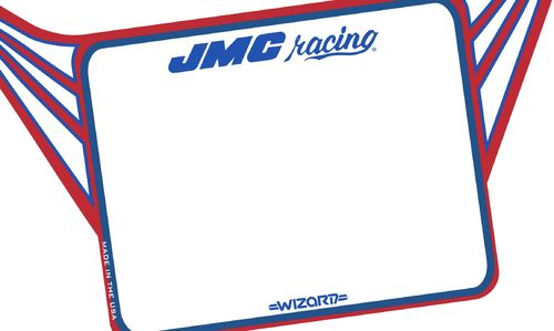 JMC® Racing Wizard Standard number plate.  NOW AVAILABLE!