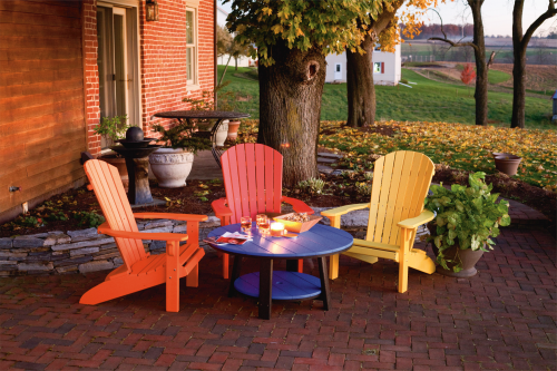 Adirondack Style Chairs, Recycled Poly, Various Colors