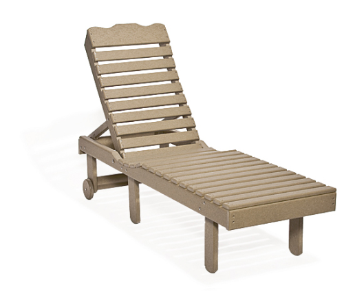 Chaise Lounge, Recycled Poly, w/o arms