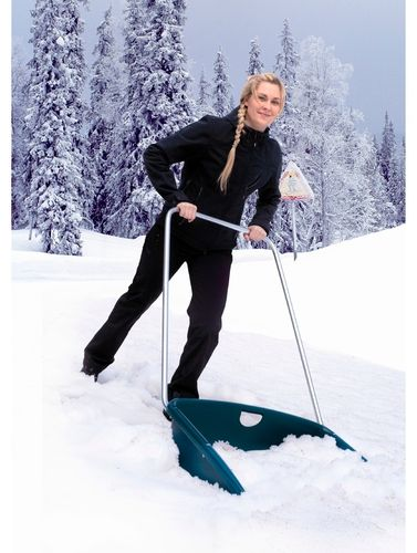 Masi Polar Plus Ergonomic Adjustable Snow Pusher Shovel