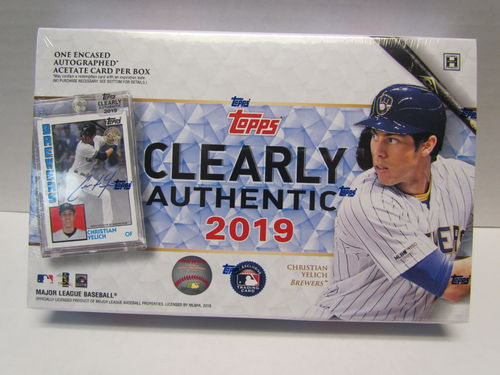 2019 Topps Clearly Authentic Hobby Box
