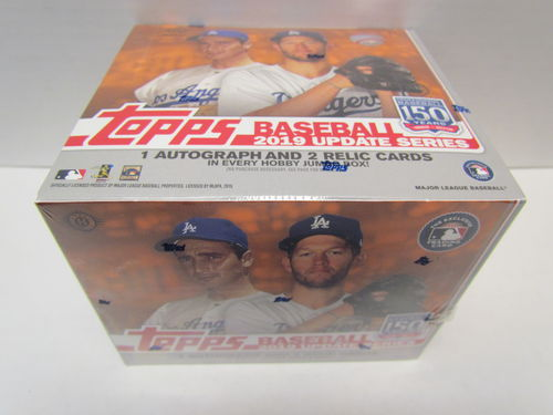 2019 Topps Update Baseball Jumbo Box (includes 2 silver pack box toppers)