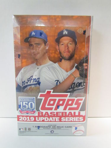 2019 Topps Update Baseball Hobby Box (includes 1 silver pack box topper)