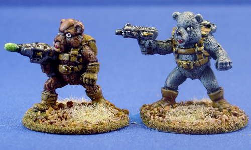 Killer Teddy Bears w/Laser Pistols (2)