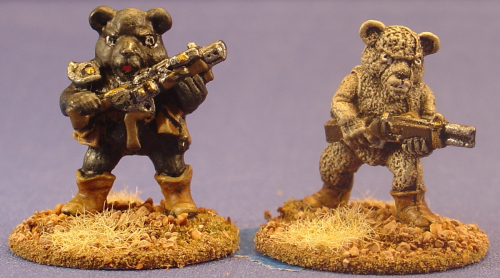 Killer Teddy Bears w/Laser Rifles (2)
