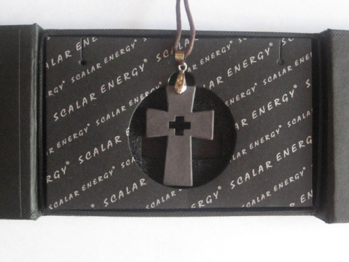 Cross Scalar Energy Pendant