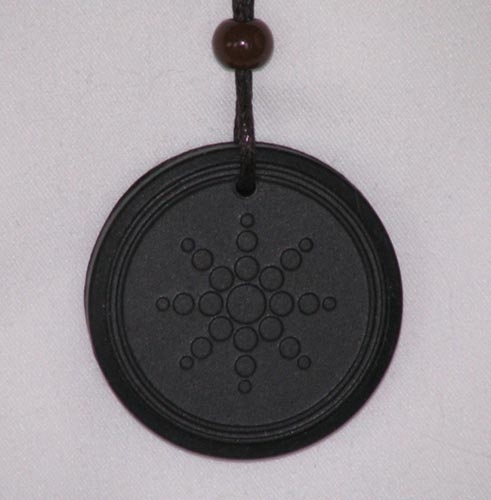Anion Powder filled Scalar Energy Pendant with Silicone Protection Ring