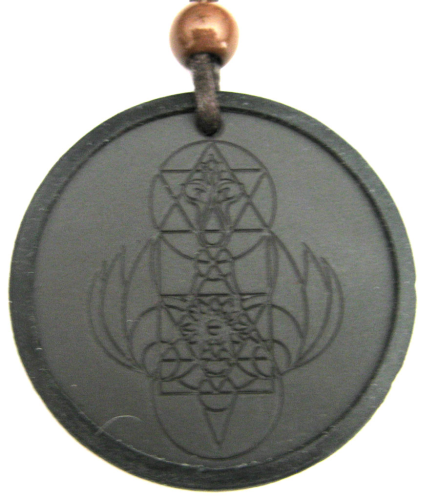 Shekinah Aura Volcanic Nuclide Scalar & Anion QTF Energy Pendant with Energy Silicone Ring