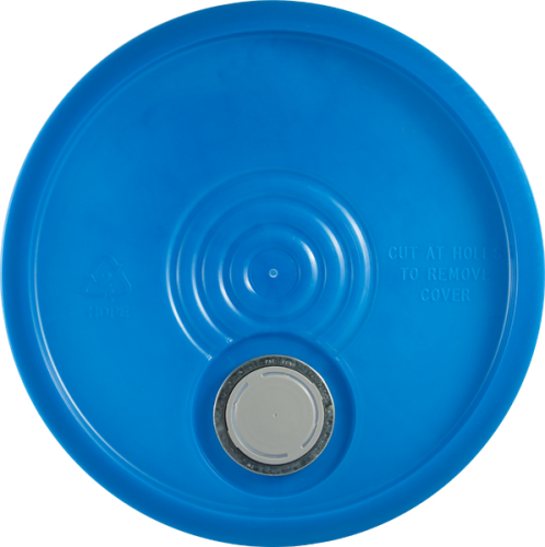 Blue Lid with pour spout for 5 gallon pails
