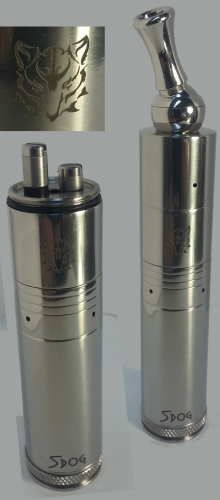 Silver Dog Mechanical Mod w/ Built-In Genesis Style Tank
