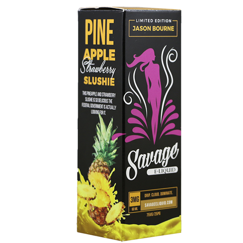 Jason Bourne (Pineapple, Strawberry, Slush) 60ML By Savage E-Liquids