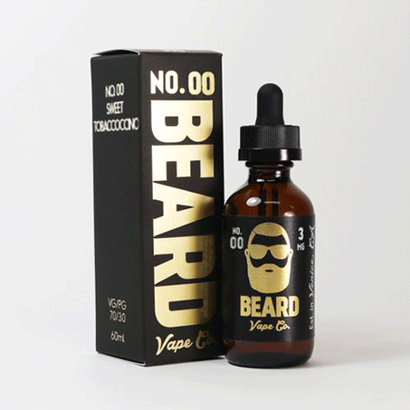 No. 00 (Sweet Tobacco)  Beard Premium 60ML E~Liquids