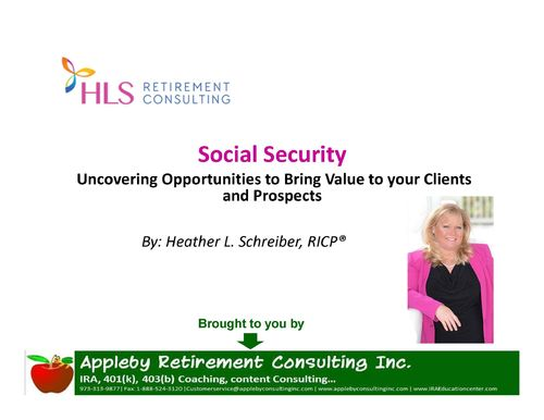Recording of Webinar/Podcast:Leveraging the Social Security claiming:MP3 N MP4 download