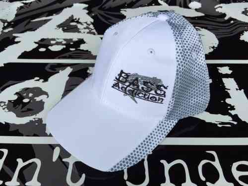 BASS ADDICTION HAT- SIDE LOGO - WHITE