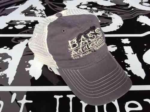 BASS ADDICTION TRUCKER HAT- GREY