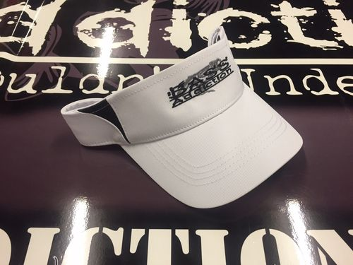 BASS ADDICTION VISOR- WHITE
