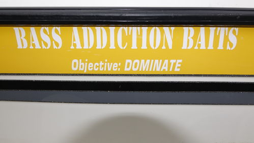 BASS ADDICTION BAITS STICKER-LARGE 30""