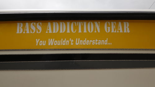 BASS ADDICTION GEAR STICKER-LARGE 30""