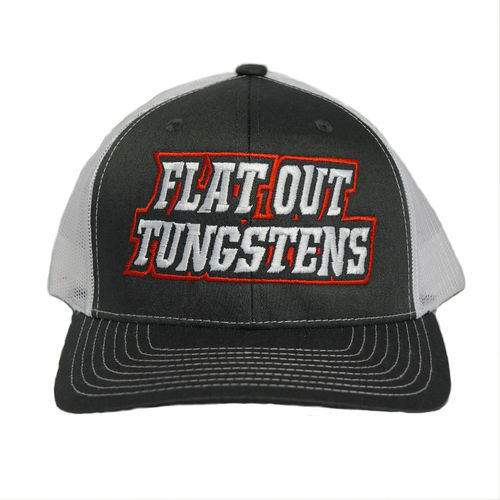 FLAT OUT TUNGSTEN HAT- SNAP BACK- CHARCOAL/WHITE