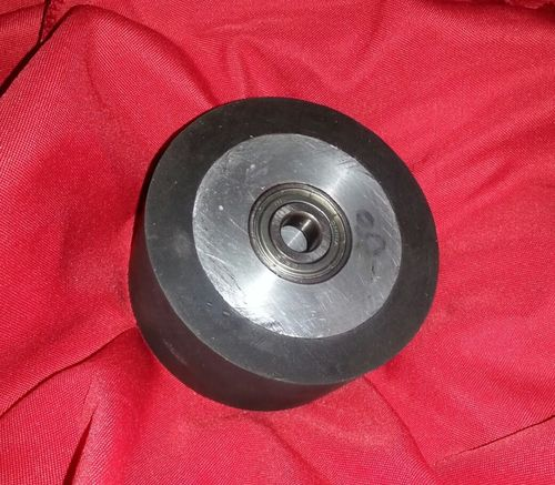 "4"" x 2"" Solid Rubber Contact Wheel with 1/2"" Bearings for 2x72 Grinder"