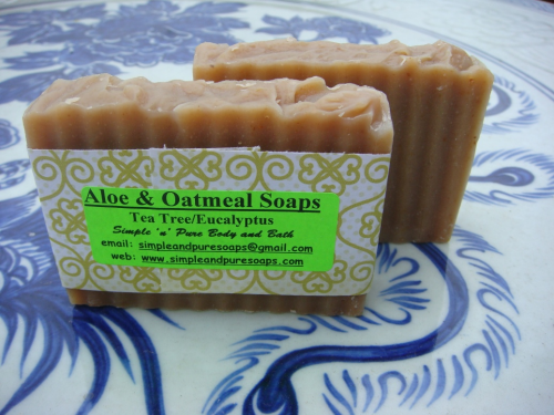 Aloe/Oatmeal Honey Soaps with Green Tea Powder