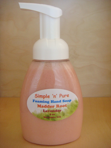 Foaming Hand Soap-Madder Root-Lavender 8 oz